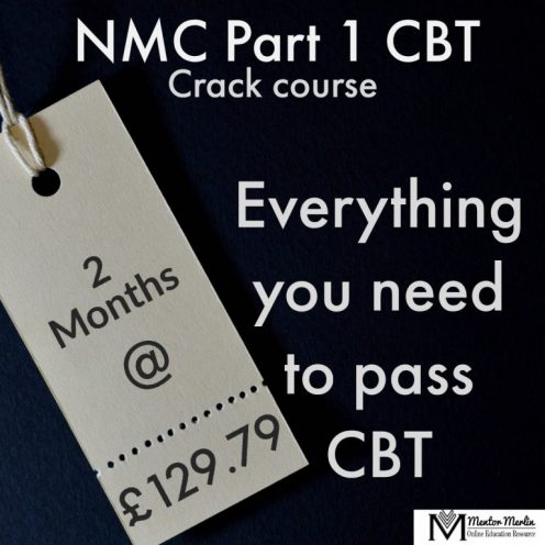 NMC CBT Crack Course for nurses By Mentor Merlin