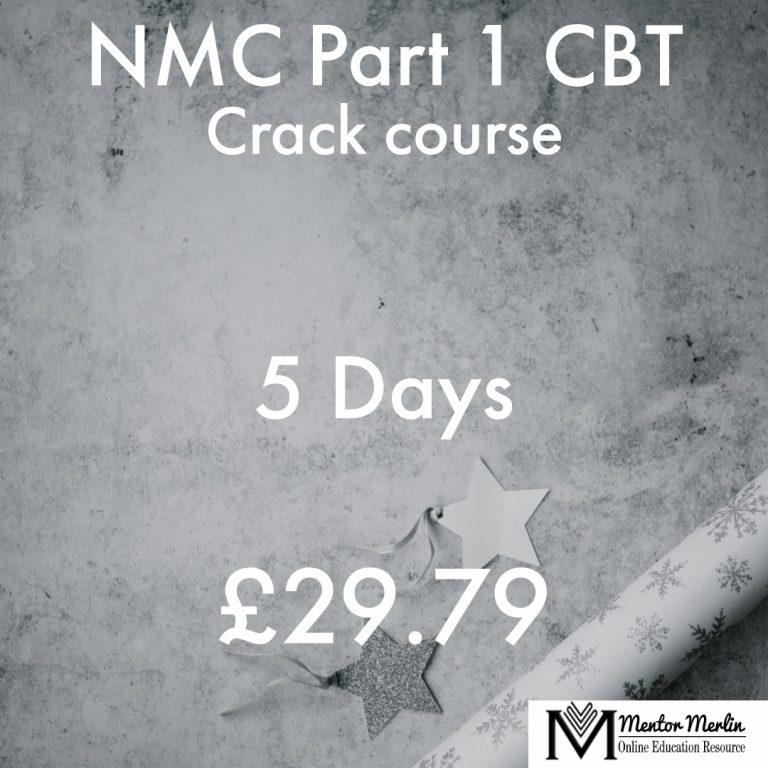 NMC Part 1 CBT Course materials powered by Mentor Merlin, 5 Days