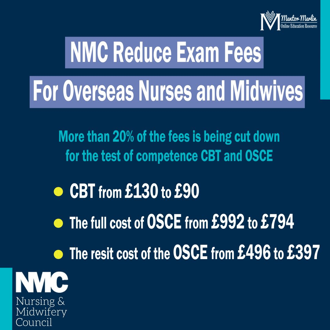 NMC reduces Test Fees for Overseas Nurses, Midwives