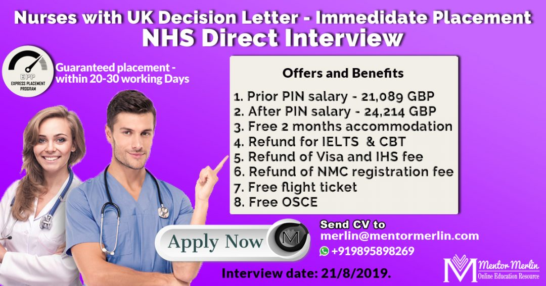 NHS Direct Interview for Decision Letter Candidates